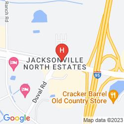 Karte RED ROOF INN JACKSONVILLE AIRPORT