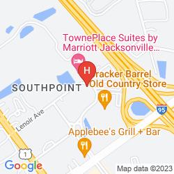 Karte RED ROOF INN JACKSONVILLE SOUTHPOINT