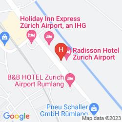 Karte RADISSON HOTEL ZURICH AIRPORT