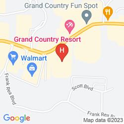 Karte HOLIDAY INN EXPRESS BRANSON 76 CENTRAL