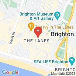 Karte  ROYAL ALBION HOTEL BRIGHTON