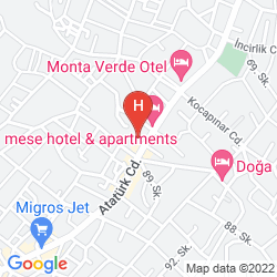 Karte ORKA CLUB HOTEL AND VILLAS