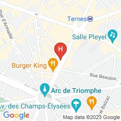 Karte MERCURE PARIS ARC DE TRIOMPHE WAGRAM
