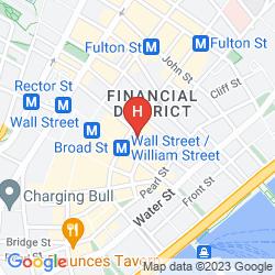 Karte CLUB QUARTERS HOTEL, WALL STREET