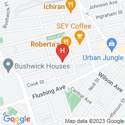 Karte THE NEW YORK LOFT HOSTEL