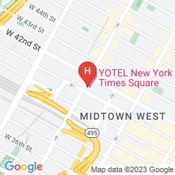Karte YOTEL NEW YORK
