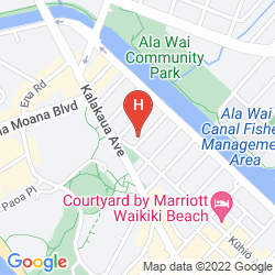 Karte AMBASSADOR HOTEL WAIKIKI