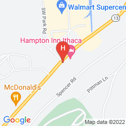 Karte HAMPTON INN ITHACA