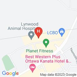 Karte BEST WESTERN BARONS HOTEL & CONFERENCE CENTER