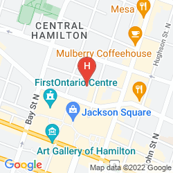 Karte SHERATON HAMILTON