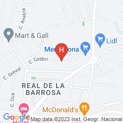 Karte HOTEL CORTIJO LOS GALLOS