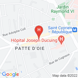 Karte APARTHOTEL ADAGIO ACCESS TOULOUSE SAINT CYPRIEN