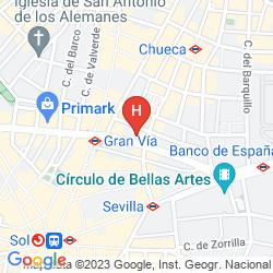 Karte HOSTAL VAZQUEZ DE MELLA