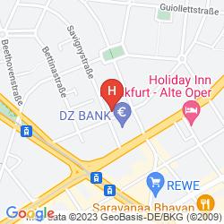 Karte SAVIGNY FRANKFURT CITY