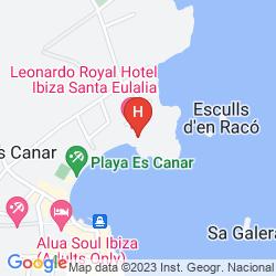 Karte INTERTUR HOTEL MIAMI IBIZA