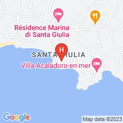 Karte RESIDENCE MARINA DI SANTA GIULIA