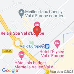 Karte RELAIS SPA CHESSY VAL D'EUROPE