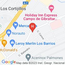 Karte HOLIDAY INN EXPRESS CAMPO DE GIBRALTAR
