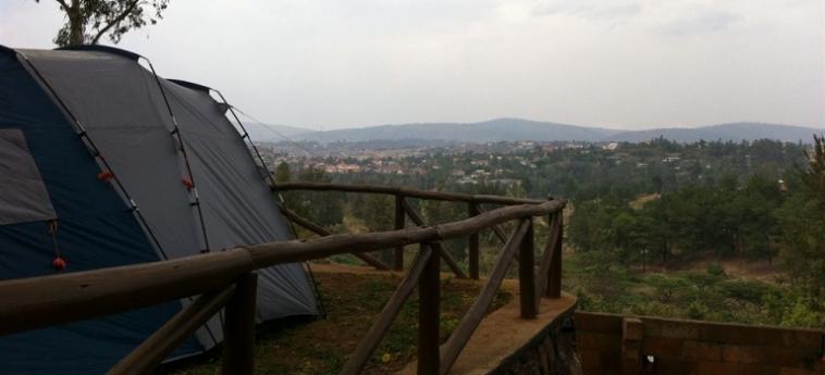 Discover Rwanda Youth Hostel: Vista sullo skyline KIGALI