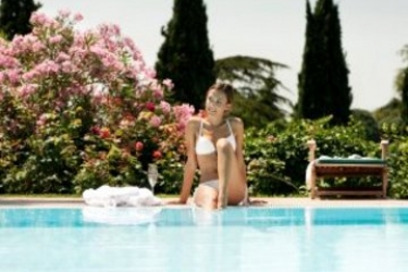 Hotel Villa Madrina: Patio LAC DE GARDE