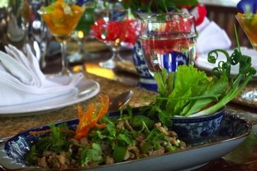 Hotel Villa Maydou: Sala de Desayuno LUANG PRABANG