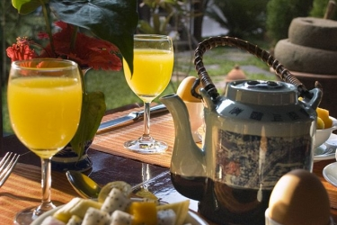 Hotel Villa Maydou: Zona de desayuno LUANG PRABANG
