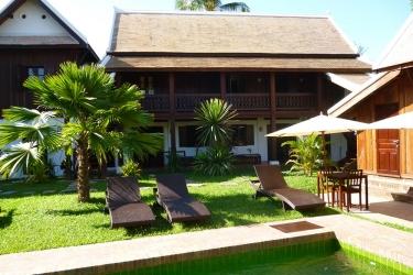 Hotel Villa Maydou: Außen Platz LUANG PRABANG