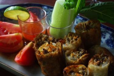 Hotel Villa Maydou: Frühstücksraum LUANG PRABANG