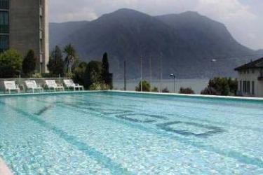 Hotel Cassarate Lago: Außenschwimmbad LUGANO