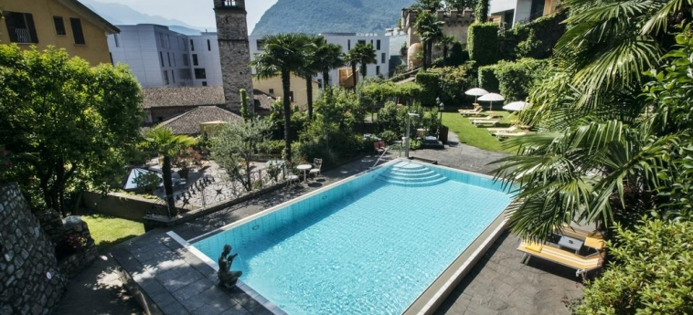 Hotel International Au Lac Historic Lakeside: Swimming Pool LUGANO