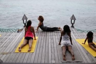 Hotel Gangehi Island Resort: Meer MALDIVEN