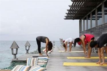 Hotel Gangehi Island Resort: Panoramarestaurant MALDIVEN