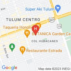 Mapa CABAÑA LOS LIRIOS TULUM