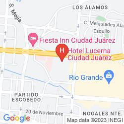 Mapa LUCERNA CIUDAD JUAREZ