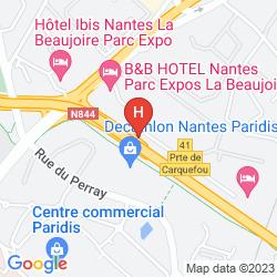 Mapa QUICK PALACE NANTES