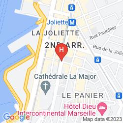 Mapa BEST WESTERN PLUS LA JOLIETTE