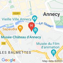 Mapa HÔTEL DU CHÂTEAU