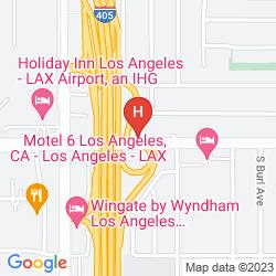 Mapa MOTEL 6 LOS ANGELES LAX