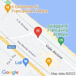 Mapa HOTEL MARE BLU
