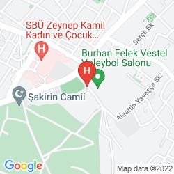 Mapa VOLLEY HOTEL ISTANBUL