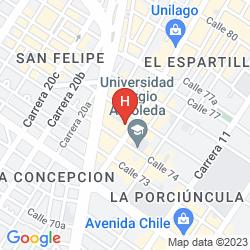 Mapa SELINA CHAPINERO BOGOTA