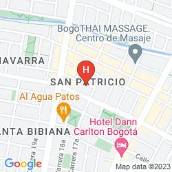 Mapa CASA HOTEL ZUETANA 106