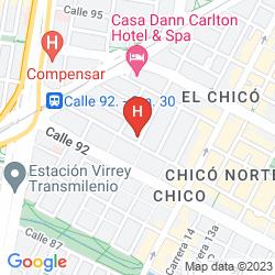 Mapa CASA HOTEL ZUETANA 93