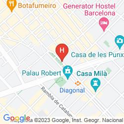Mapa COOLROOMS PASEO DE GRACIA