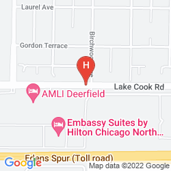 Mapa EMBASSY SUITES BY HILTON CHICAGO NORTH SHORE DEERFIELD