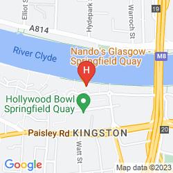 Mapa ETAP HOTEL GLASGOW