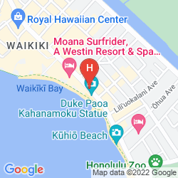 Mapa HYATT REGENCY WAIKIKI BEACH RESORT AND SPA