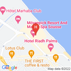 Mapa Movenpick Resort And Marine Spa Sousse