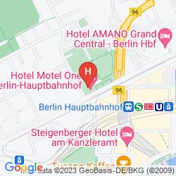 Mapa MOTEL ONE BERLIN-HAUPTBAHNHOF