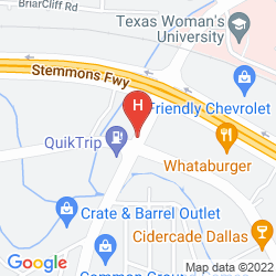 Mapa HOLIDAY INN EXPRESS DALLAS MARKET CENTER